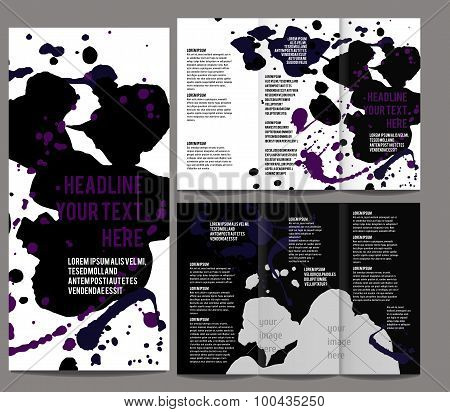 Tri-fold Brochure and Catalog Vector Concept