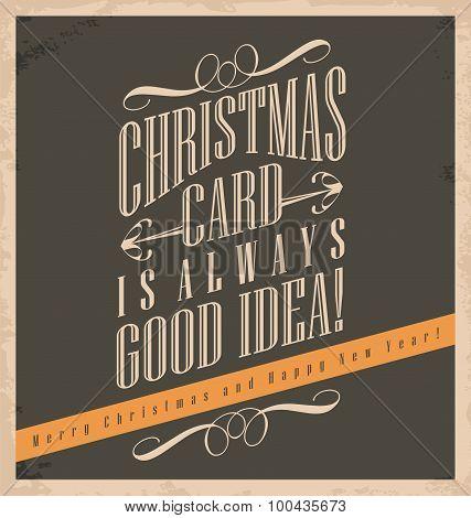 Christmas card is always good idea