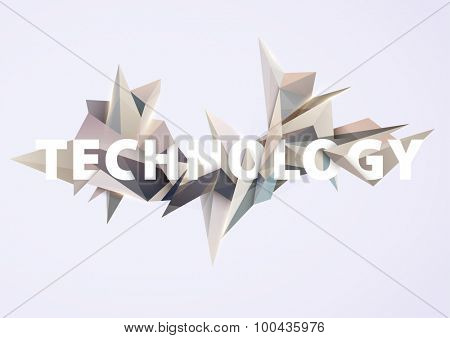 Abstract 3D composition. Modern background with text
