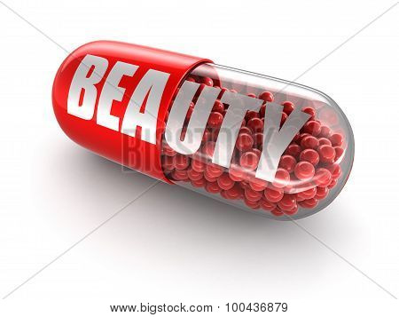 Pill beauty (clipping path included)