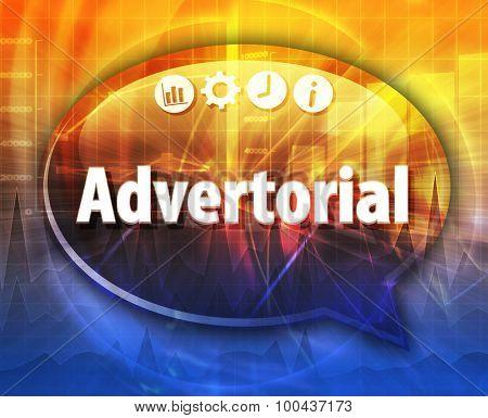 Advertorial Business term speech bubble illustration