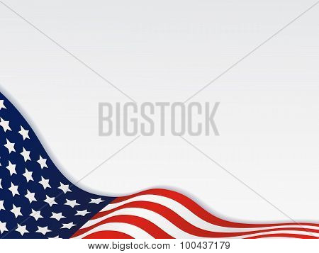 United State Of America Wavy Flag Background