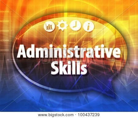 Administrative Skills Business term speech bubble illustration