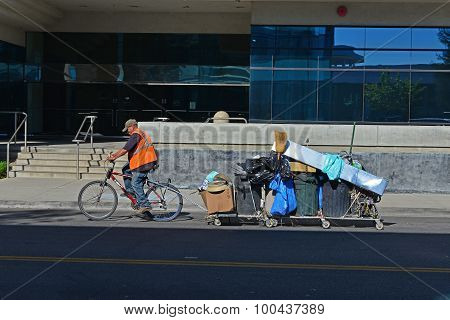 Bicycle with Big Load