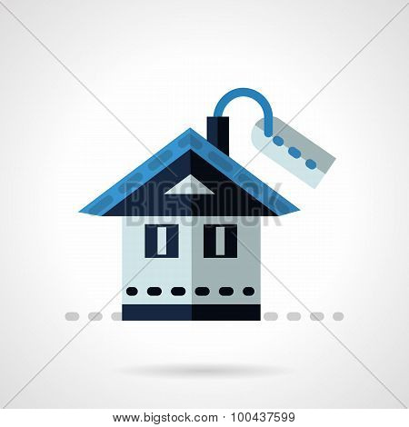Property for sale flat vector icon