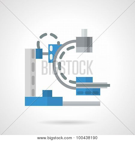 Diagnostic machine flat vector icon