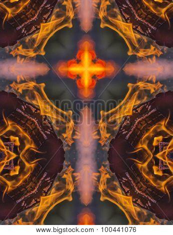 kaleidoscope cross: campfire flame