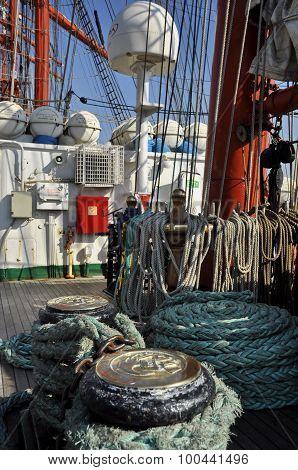 The Main Deck Of The Sedov Tall Ship
