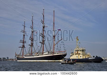 The Sedov Tall Ship On The Ij River