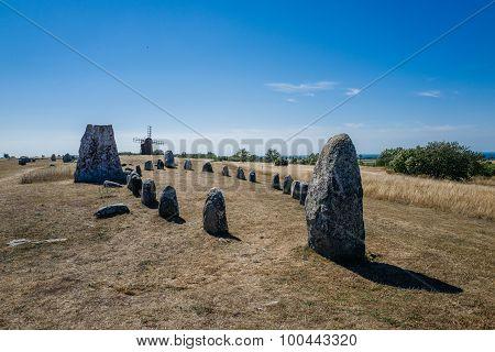 Nordic bronze age grave field in Sweden