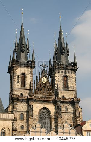 Church Of Our Lady Before Tyn, Prague, Czech Republic,