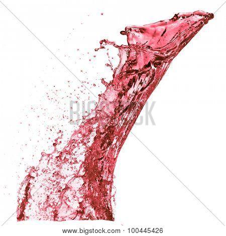red wine splash, isolated on white background