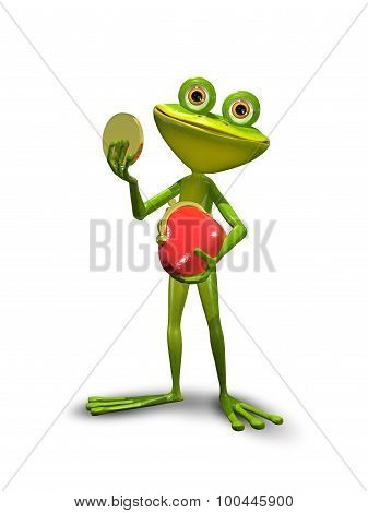 Frog With A Purse