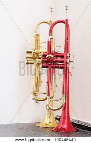 classical music wind instrument trumpets
