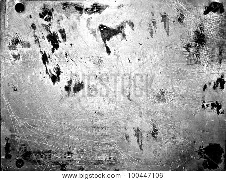 Abstract background texture of old metal, scratches and stains, blur