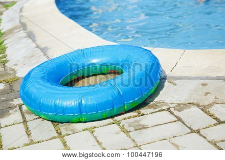 Life Ring At The Swimming Pool