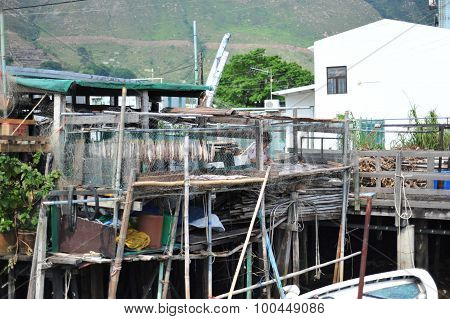 Tai O village in Lantau island