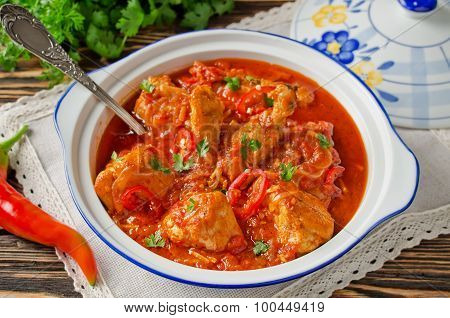 Chakhokhbili - Chicken Stewed With Tomatoes