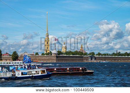 Neva River And Peter And Paul Fortress, Saint Petersburg