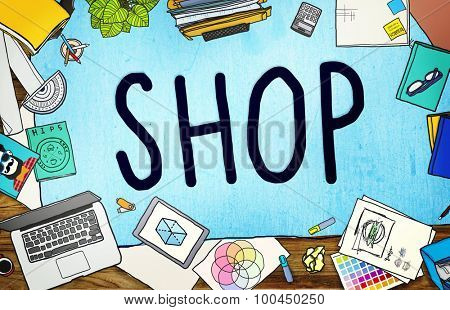 Shop Shopping Retail Purchase Commercial Concept