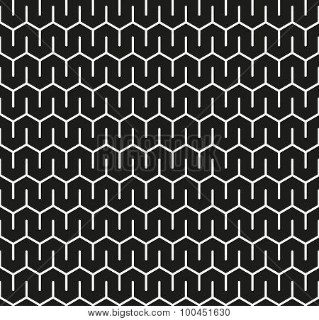 Seamless abstract interlocking geometric pattern