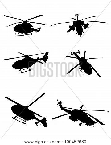 Helicopters Set