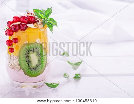 dessert of fruit layers