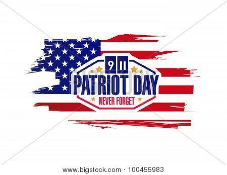 Ink Patriot Day Sign Illustration Design