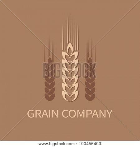 Grain company symbol. Vector illustration.