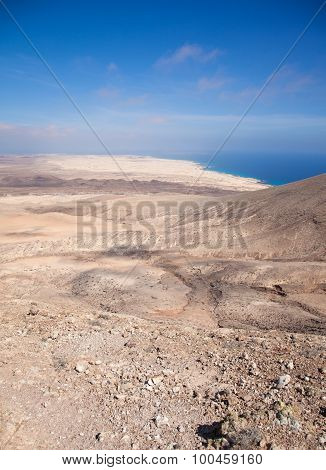 Fuerteventura, View North From Montana Roja