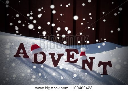 Advent Mean Christmas Time Snow Santa Hat