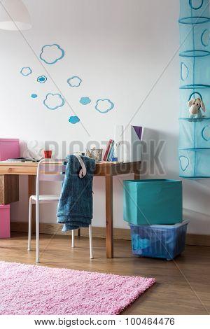 Homely Room For Schoolgirl