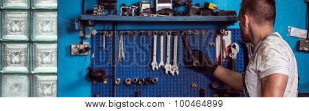 Wrenches On The Wall
