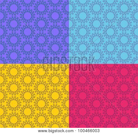 Ornamental vector pattern for background