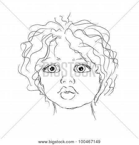 Contour Portrait Child