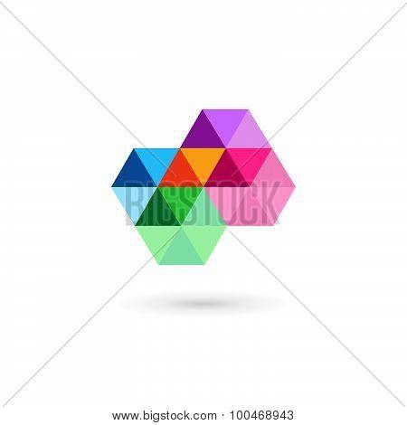 Cross Plus Medical Mosaic Logo Icon Design Template Elements