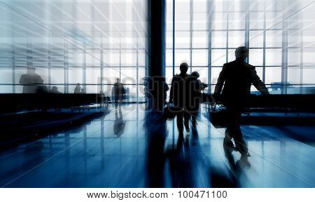 Business Travelers Passengers Airport Commuter Concept