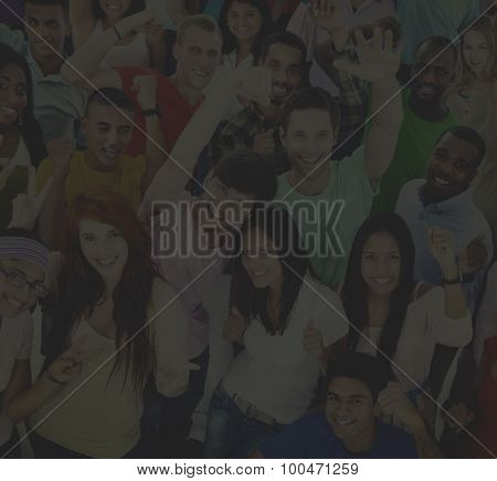 Large Group of People Celebration Friendship Concept