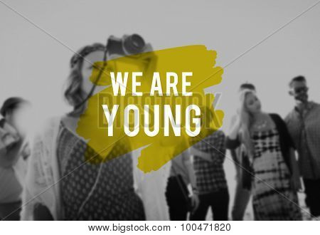 Young Youth Inspirational Energy Teenagers Concept