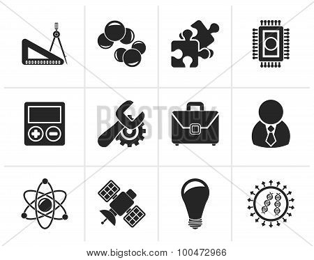 Black Science and Research Icons