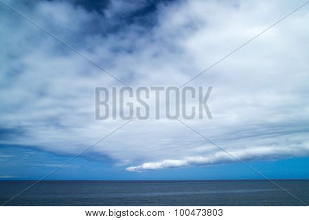 Unusual Cloud Formation Over Ocean