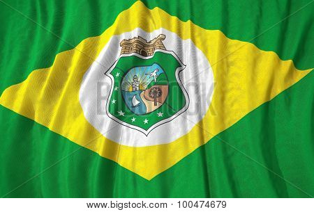 Corrugated Brazilian State Ceara Flag