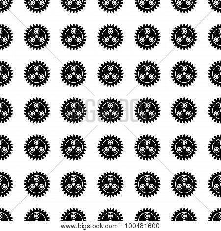 Gear Seamless Pattern. Vector