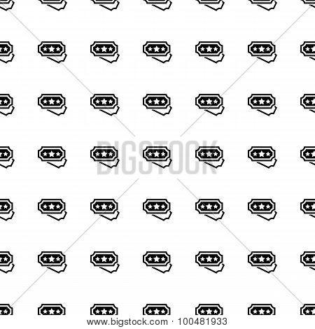 Ticket Seamless Pattern. Vector