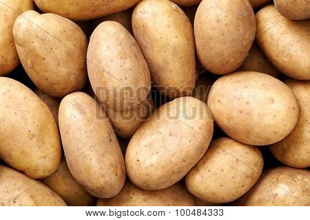 potato Raw fruit and vegetable backgrounds overhead perspective, part of a set collection of healthy organic fresh produce