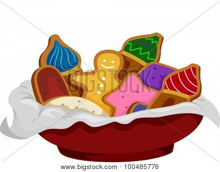 Illustration of Gingerbread Cookies Shaped Like Onion Domes