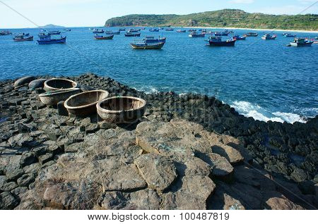 Ganh Da Dia, Viet Nam, Rock, Sea, Travel, Vietnam