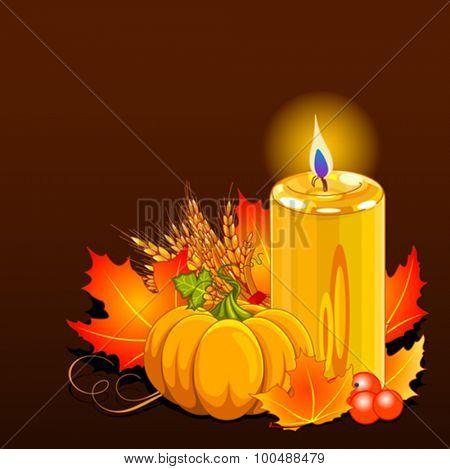 Illustration of Thanksgiving Day still life