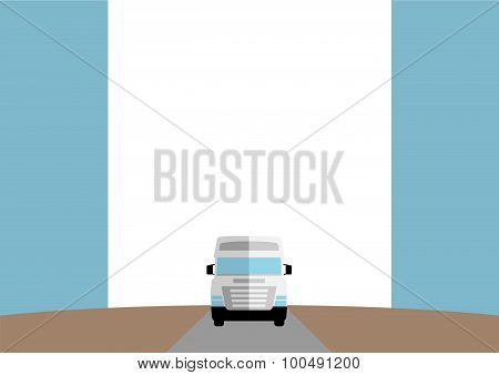 Template with Auto Truck