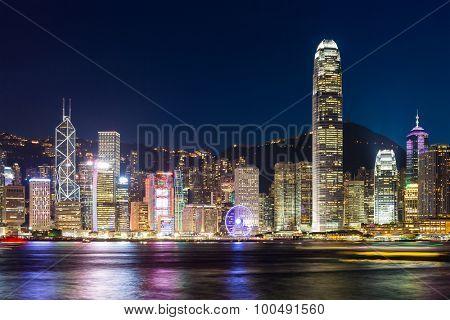 Hong Kong Island, Victoria Harbour at night